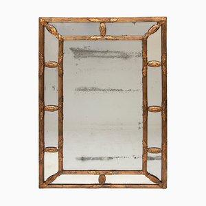 Espejo antiguo dorado, década de 1820