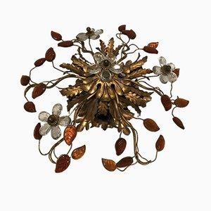 Deckenlampe aus Muranoglas, 1960er