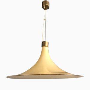 Lámpara colgante de cristal de Murano, años 70
