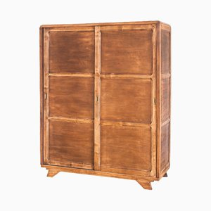French Oak Wardrobe, 1960s