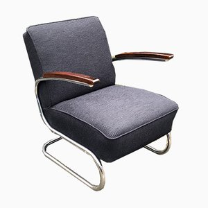 Bauhaus Tubular Model S411 Armchair by Willem Hendrik Gispen for Mücke Melder, 1930s