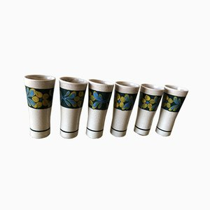 Vintage Ceramic Vases from Pornoc, Set of 6