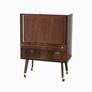 French Wooden TV Cabinet from Radiola, 1950s