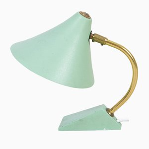 Mid-Century Light Green Table Lamp