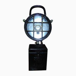 Lámpara de mesa industrial vintage, años 70