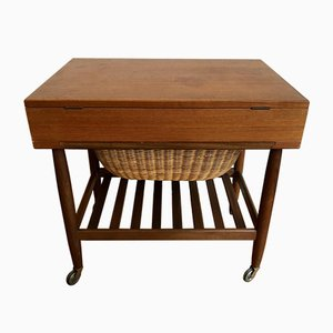 Danish Teak Sewing Box by Ejvind Johansson, 1960s