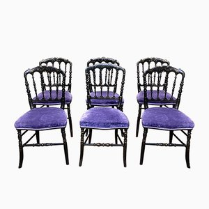 19th Century Napoleon III Dining Chairs, Set of 6