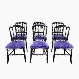 Napoleon III Esszimmerstühle, 19. Jh., 6er Set
