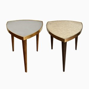 Mid-Century Floral Stools, 1950s, Set of 2