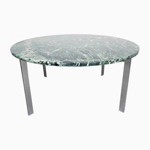 Tavolino da caffè in acciaio cromato e marmo verde di Knoll Inc. / Knoll International, anni '60