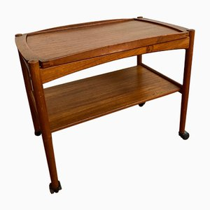 Mid-Century Wooden Trolley by Poul Hundevad, 1960s