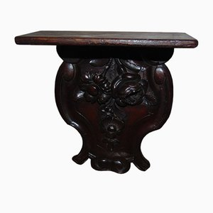 Antique Art Nouveau Carved Wooden Shelf