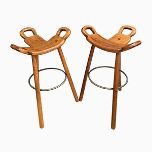 Spanish Model Marbella Stools from Confonorm, 1970s, Set of 2