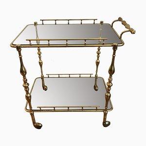 Mid-Century Brass Bar Table, 1950s