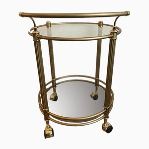 Mid-Century Golden Round Bar Table, 1960s