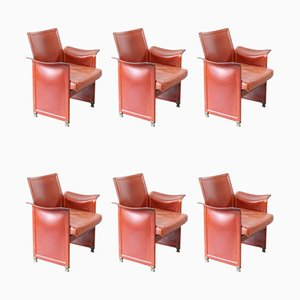 Lounge Chairs by Tito Agnoli for Matteo Grassi, 1970s, Set of 6