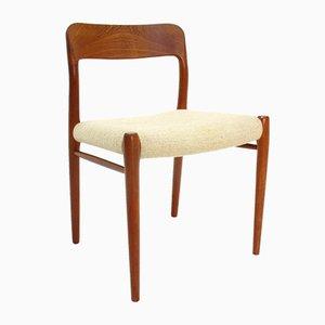 Modell 75 Beistellstuhl von Niels Otto Møller für J. L. Møllers, 1970er