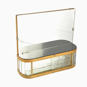 Art Deco Bathroom Mirror from Kombinat Decin, 1950s