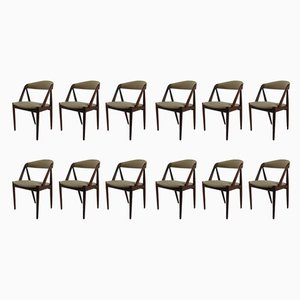 Mid-Century Teak Dining Chairs by Kai Kristiansen, 1960s, Set of 12