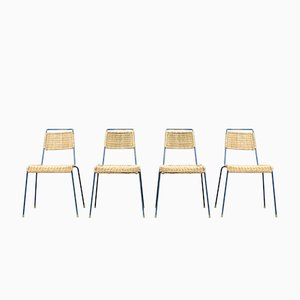 Mid-Century Stacking Chairs by Paul Schneider Esleben for Wilde+Spieth, 1950s, Set of 4
