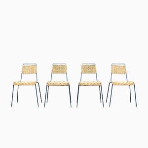 Mid-Century Stacking Chairs by Paul Schneider Esleben for Wilde+Spieth, 1950s, Set of 4