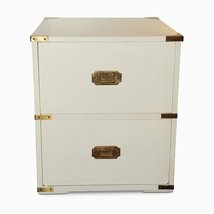 White Brass Military Campaign Chest, 1960s