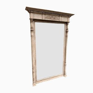 Large Antique French Carved Wood Mirror