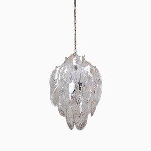 Deckenlampe aus Muranoglas von Gino Vistosi für Mazzega, 1970er