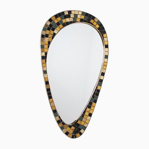 Brass and Golden Mosaic Mirror, 1960s