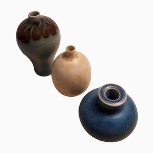 Kleine Vasen von Tomas Anagrius, 1960er, 3er Set