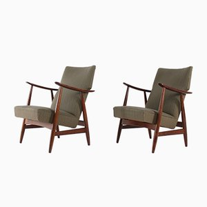 Reclining Lounge Chairs from Vier in Een, 1950s, Set of 2