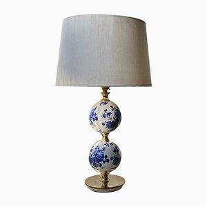 Lampe de Bureau en Porcelaine Blanche par Henrik Blomqvist pour Tranås Stilarmatur, 1960s