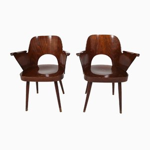 Bentwood Armchairs by Oswald Haerdtl for Thonet, 1950s, Set of 2