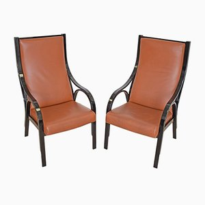 Armchairs by V. Gregotti, L. and G. Wick for SIM Novara, 1980s, Set of 2
