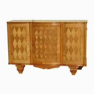 Vintage Sycamore and Rosewood Buffet, 1950s