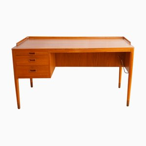 Scandinavian Modern Teak Desk by H. Brockmann-Petersen for Poul M. Jessen, 1960s