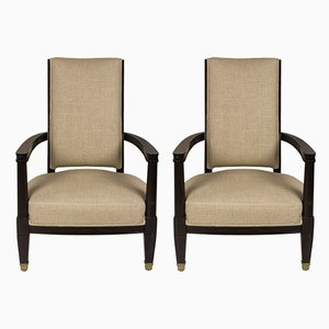 French Armchairs by Jean Pascadu, 1930s, Set of 2