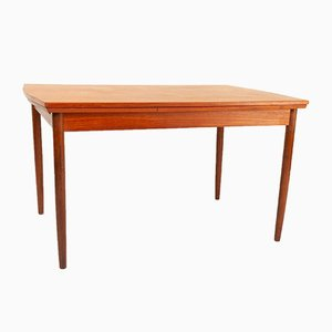 Rectangular Danish Teak Extendable Dining Table, 1960s