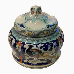 Antique Ceramic Lidded Box by Samuel Schellink for Rozenburg