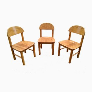 Pine Wood Dining Chairs by Rainer Daumiller, 1980s, Set of 3