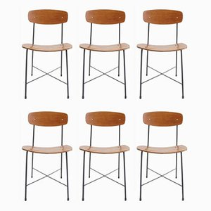 Mid-Century Dining Chairs by Faram for La Rinascente Milano, Set of 6