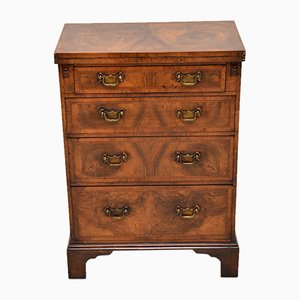Antique Georgian Burr Walnut Bachelor's Dresser
