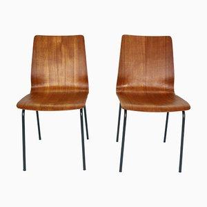 Chaises de Salle à Manger Modèle Euroika en Teck par Friso Kramer pour Auping, 1950s, Set de 2