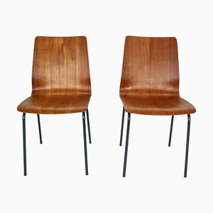 Teak Model Euroika Dining Chairs by Friso Kramer for Auping, 1950s, Set of 2