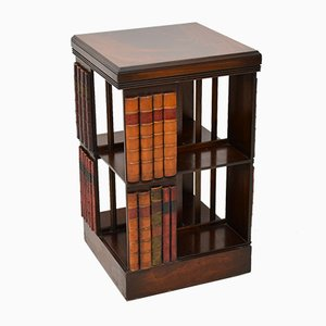 George III Mahogany Revolving Bookshelf, 1950s