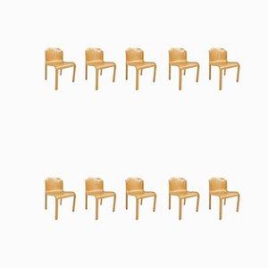 Chaises de Salle à Manger Mid-Century par Carlo Bartoli pour T70, Set de 10