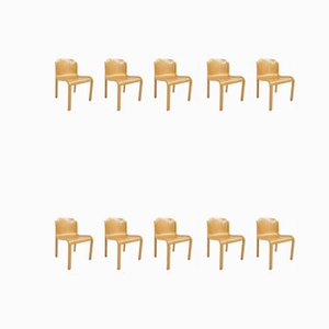 Mid-Century Dining Chairs by Carlo Bartoli for T70, Set of 10