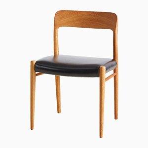 Sedie da pranzo nr. 75 di Niels Otto Møller per J.L. Møllers, anni '60, set di 6