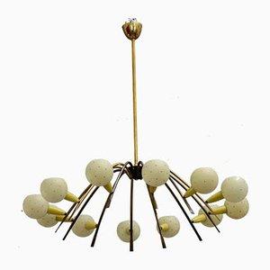 Lámpara de araña Sputnik italiana de Stilnovo, años 50