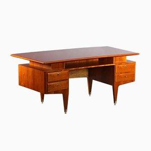 Freistehender Schreibtisch aus Palisander von Vittorio Dassi, 1950er